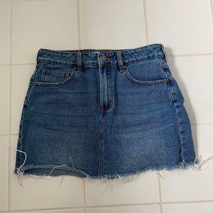 Pacsun cutoff denim mini skirt